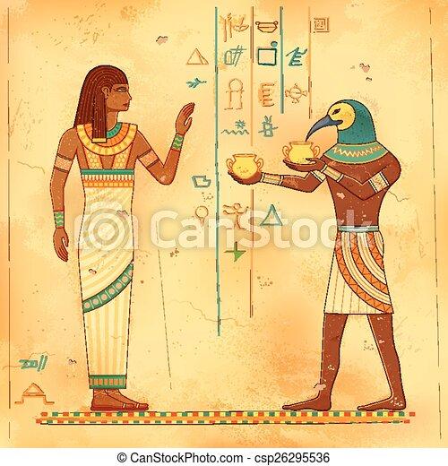 Egyptian art of human - csp26295536