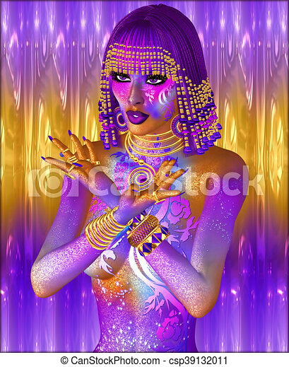 Egyptian Fantasy Woman - csp39132011