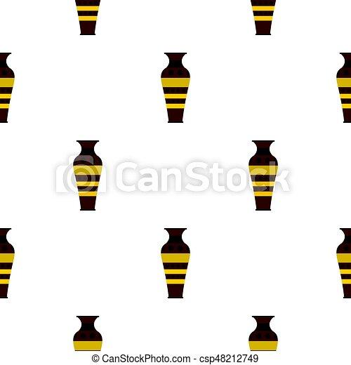 Egyptian pottery vessel pattern seamless - csp48212749