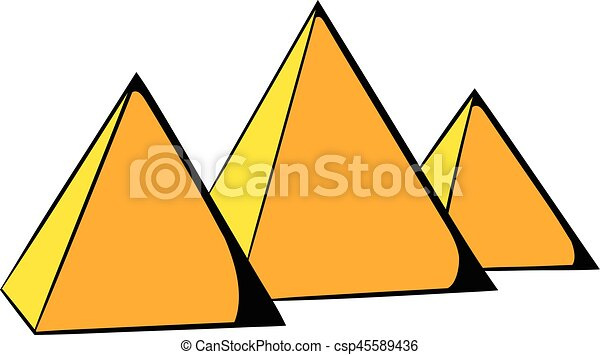 egyptian pyramids icon cartoon egyptian pyramids icon in vectors rh canstockphoto com pyramids clipart black and white pyramid clipart png