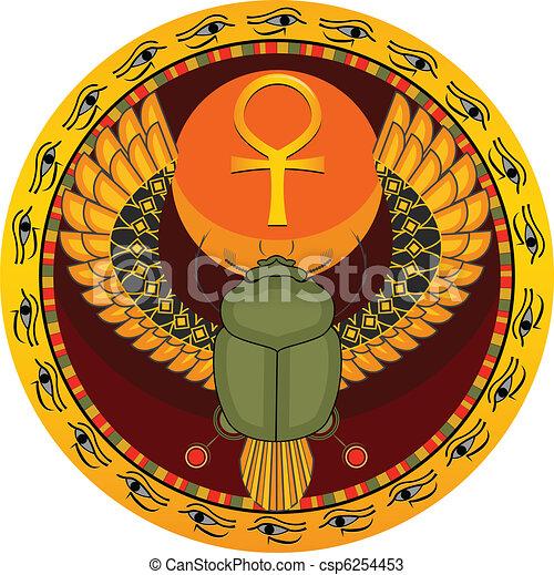 Egyptian sacred bug - csp6254453