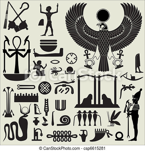 Egyptian Symbols And Signs Set 2 Ancient Egyptian Symbols Vector