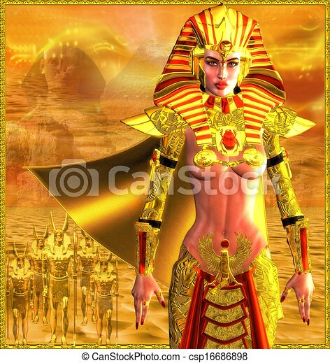 Egyptian Warrior Queen - csp16686898