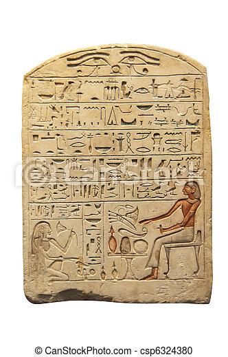 egyptisch, oud schrijven - csp6324380