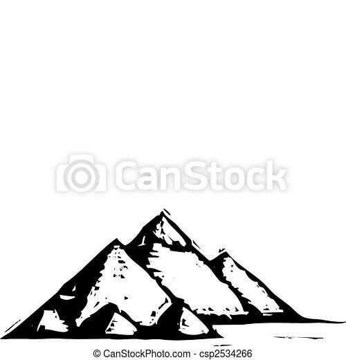 egyptisch, piramides - csp2534266