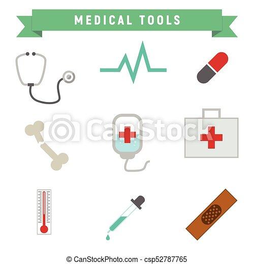 egyszerű, orvosi szerszám, csomag - csp52787765