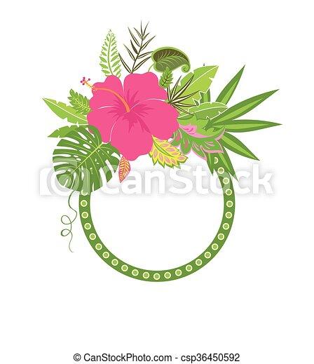egzotyczny, ułożyć, liście - csp36450592