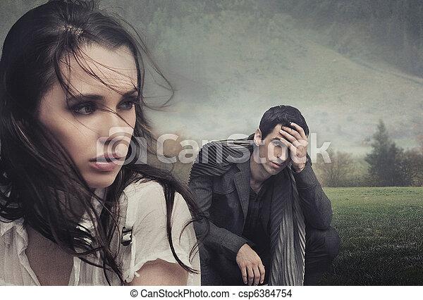 ehepaar, aufwirft, junger, hübsch - csp6384754