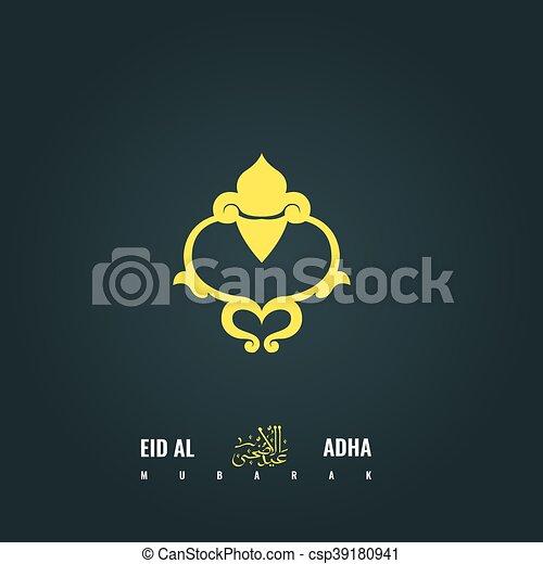Eid adha mubarak abstract greeting card design adha symbol for eid adha mubarak abstract greeting card design adha symbol for your banner or poster translation of arabic calligraphy title is sacrifice feast m4hsunfo