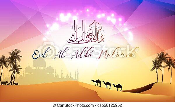 Vector illustration of eid al adha greeting card eid al adha greeting card csp50125952 m4hsunfo