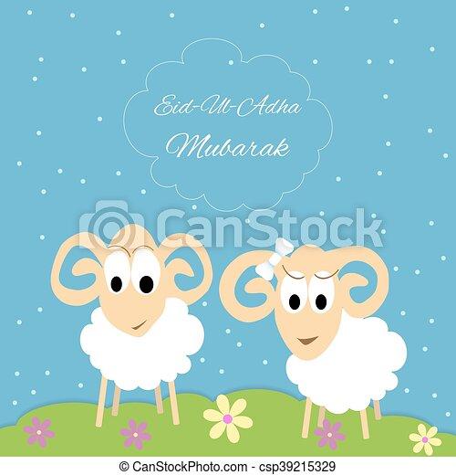 Eid al adha greeting card eid al adha mubarak muslim community eid al adha greeting card csp39215329 m4hsunfo