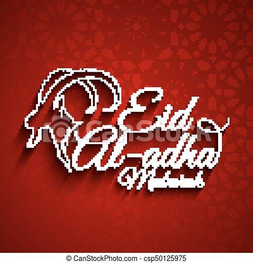 Vector illustration of eid al adha greeting card eid al adha greeting card csp50125975 m4hsunfo