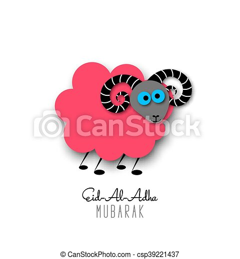Muslim community festival of sacrifice eid al adha greeting card muslim community festival of sacrifice eid al adha greeting card with sheep vector illustration eps10 m4hsunfo
