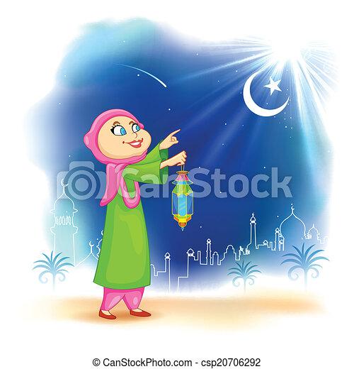 Eid ka chand mubarak - csp20706292