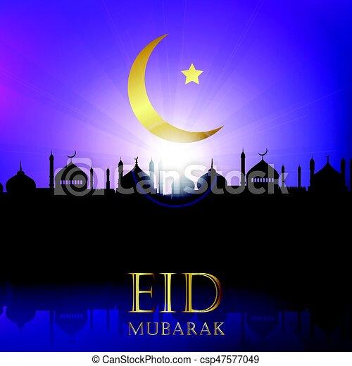 Eid Mubarak background - csp47577049