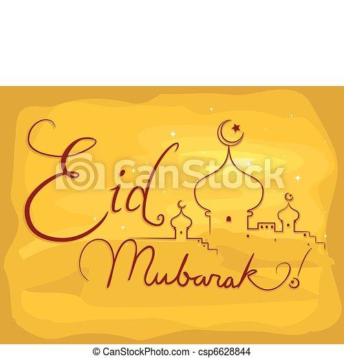 Eid mubarak - csp6628844