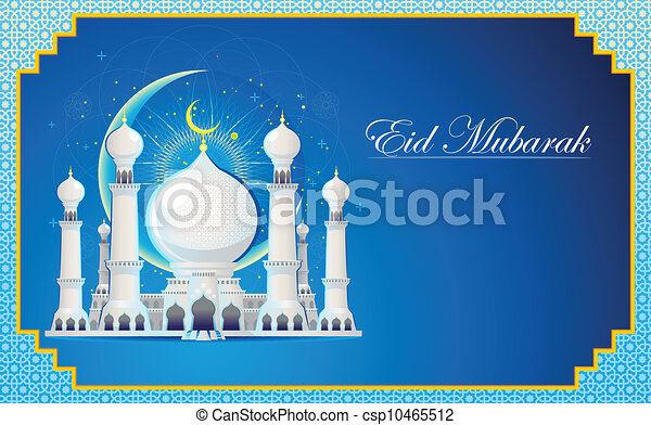 Eid mubarak greeting card moslem islam eid mubarak celebration day eid mubarak greeting card csp10465512 m4hsunfo