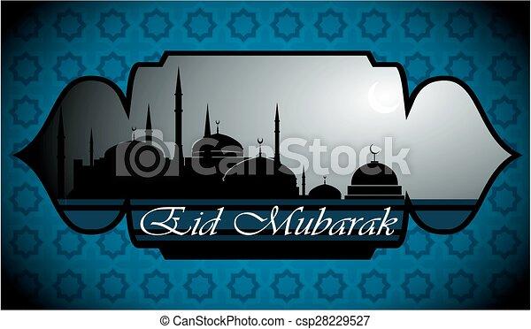 Eid Mubarak - csp28229527