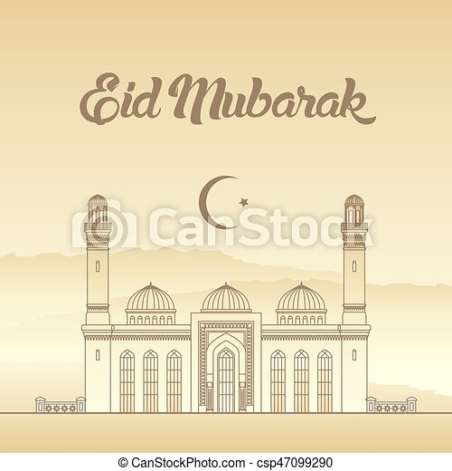 Eid mubarak ramadan eid al adha greeting card vector illustration m4hsunfo