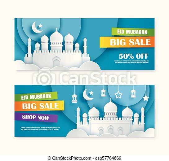 Unduh 5800 Koleksi Background Banner Eid Mubarak Gratis