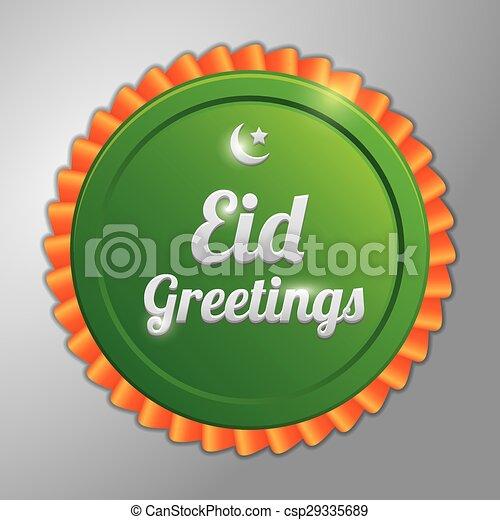 Saludos de Eid - csp29335689