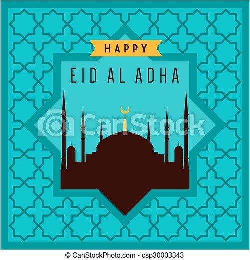 Eid-ul-adha mubarak - csp30003343