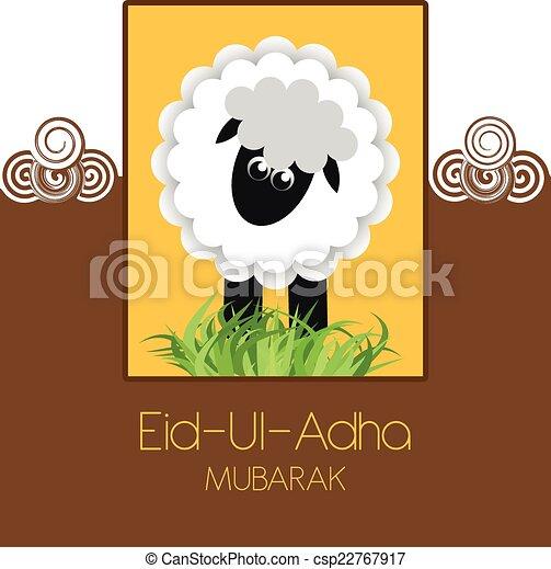 Eid ul adha mubarak greeting card eid ul adha mubarak csp22767917 m4hsunfo