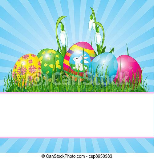 Ostereier Hintergrund - csp8950383