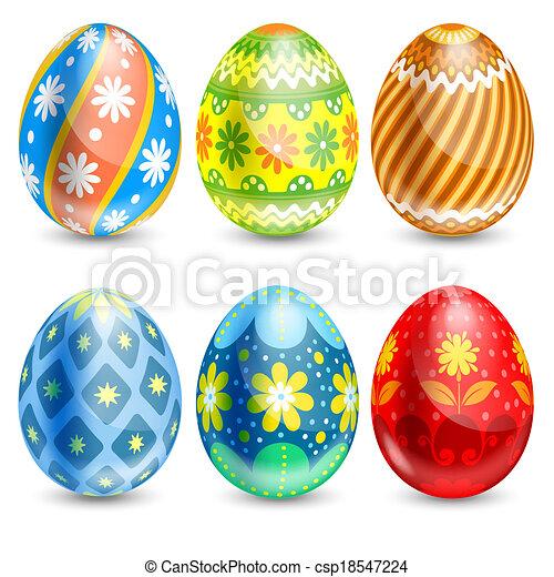 eier, ostern - csp18547224