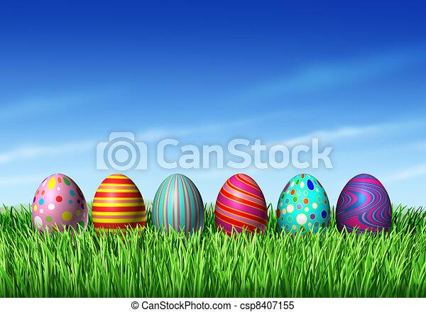 eier, ostern - csp8407155