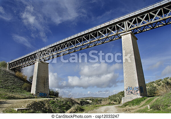 Eiffel school iron bridge - csp12033247