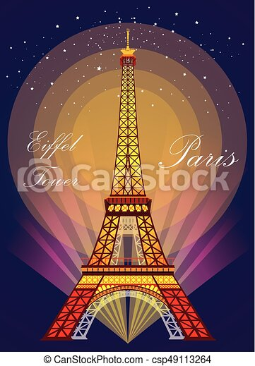 Eiffel Tower In Different Colors