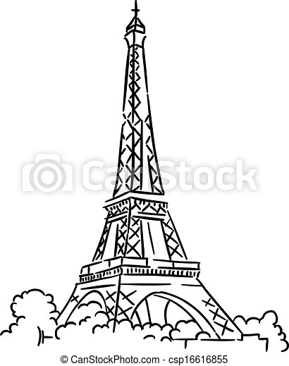 Eiffel tower in paris france sketch vector illustration clipart eiffel tower in paris france csp16616855 thecheapjerseys Choice Image