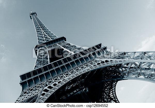 Eiffel tower, Paris, Ile de France, France - csp12694552