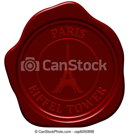 eiffel tower sealing wax - csp6050898