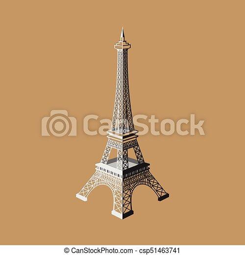 Eiffel tower vector illustration ,Paris. Icon design - csp51463741