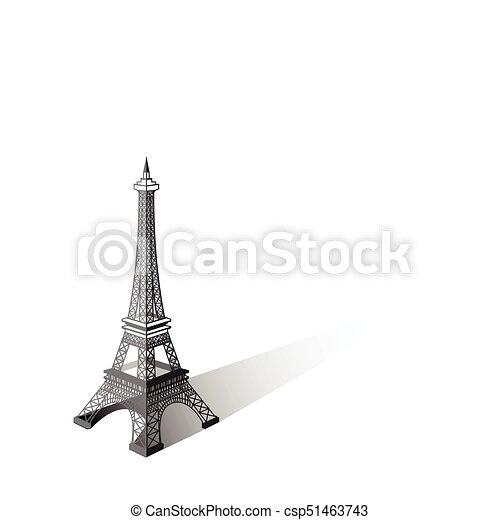 Eiffel tower vector illustration ,Paris. Icon design - csp51463743