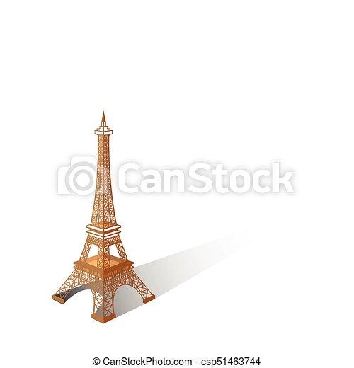 Eiffel tower vector illustration ,Paris. Icon design - csp51463744
