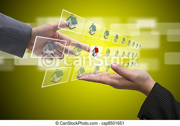eigendom, investering - csp8501651