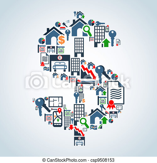 eigendom markt, investering, zakelijk - csp9508153
