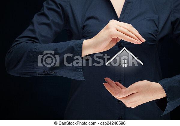 eigendom, verzekering - csp24246596