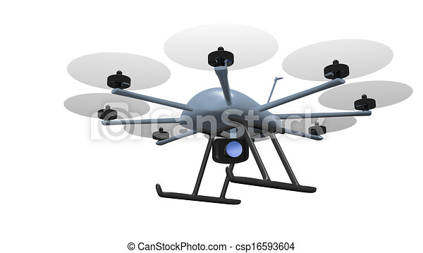 eight rotor drone tracking - csp16593604
