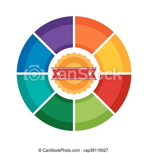 Eight sides infographic circle diagram template or vector eight sides infographic circle diagram template or vector wheel chart ccuart Images
