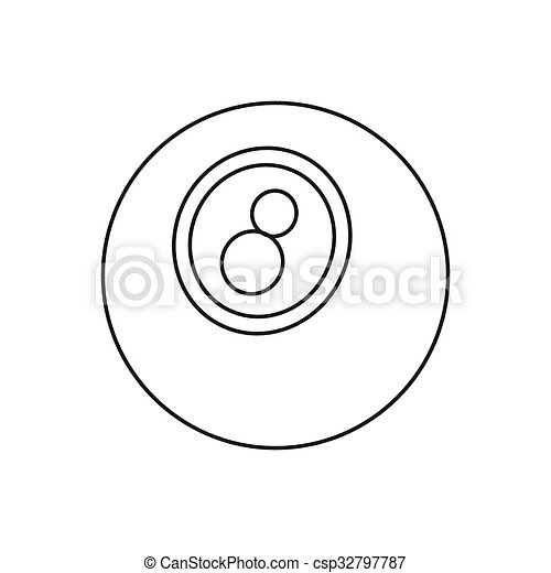 Eightball line icon - csp32797787