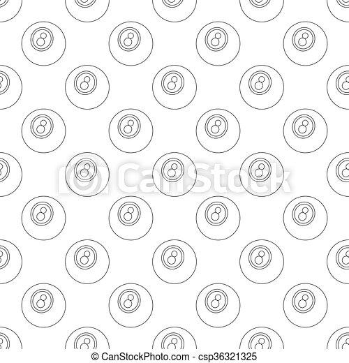 Eightball pattern seamless - csp36321325