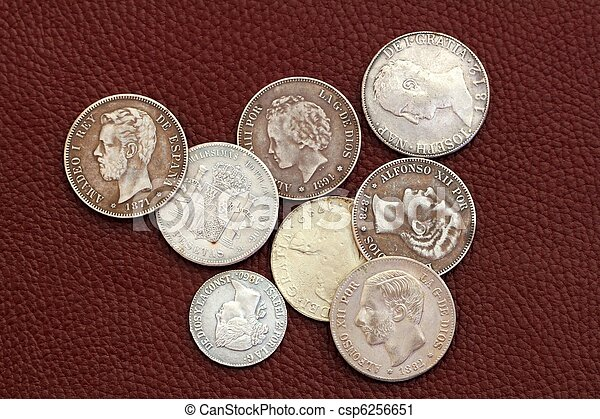 eighteenth and nineteenth century spain old coins - csp6256651