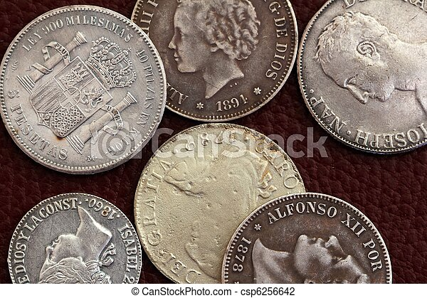 eighteenth and nineteenth century spain old coins - csp6256642