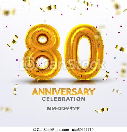 Eightieth Anniversary Celebration Number Vector - csp69111719