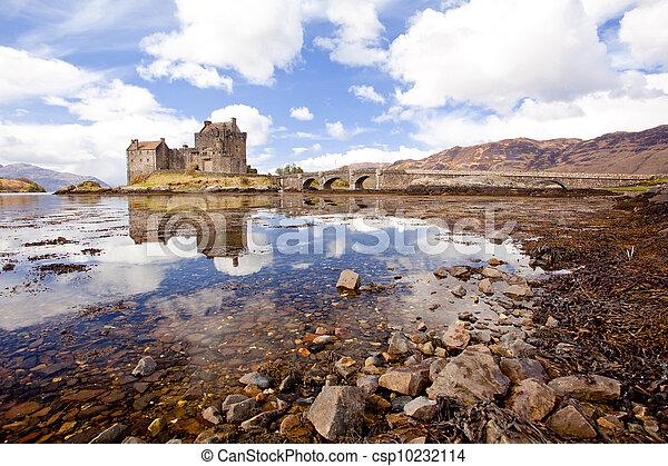 Eilean Donan Castle, Highland Scotland - csp10232114
