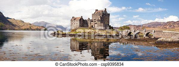 Eilean Donan Castle Scotland Panorama - csp9395834